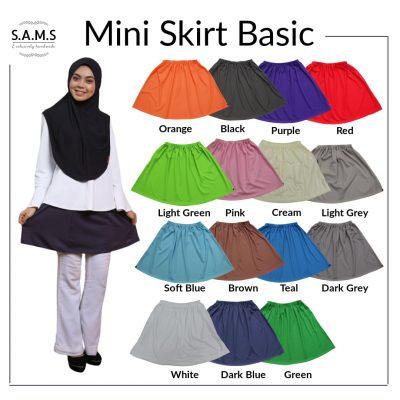 Mini skirt basic muslimah sporty